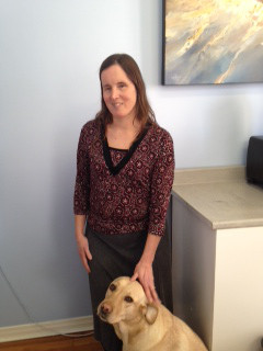 Photo of Rebecca and guide dog Karrie