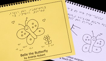 Braille Children's Book Belle the Butterfly