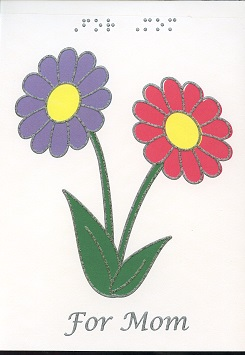 Braille and Tactile Greeting Card Mother'S Day Daisies