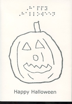 Braille and Tactile Greeting Card Happy Halloween – Jack-O-Lantern