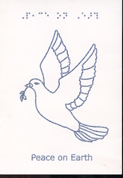 Braille and Tactile Greeting Card Peaceful Dove