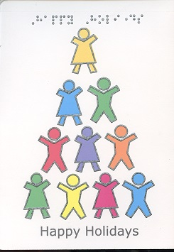Braille and Tactile Greeting Card Children'S Tree