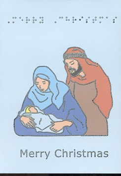 Braille and Tactile Greeting Card Holy Family