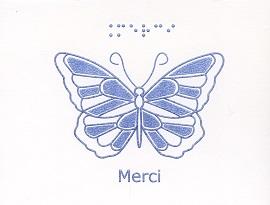 Carte en Braille et Tactile Boîte De Petites Cartes Sans Texte – Papillon