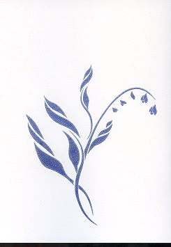 Tactile Greeting CardLily Blue