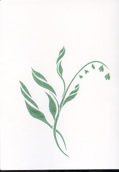 Tactile Greeting CardLily Green