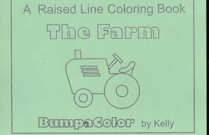 Braille colouring Book The Farm