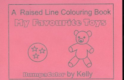 Braille colouring Book Favourite Toys