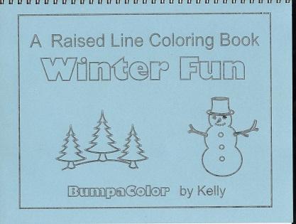 Braille colouring book Winter Fun