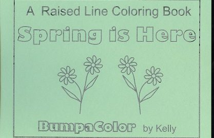 Braille colouring Book Spring Is Here!