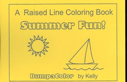Braille colouring Book Summer Sunshine