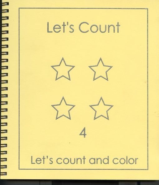 Braille colouring Book Let's Count and Colour