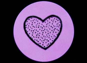 Fun Braille Activities Heart Stickers