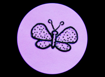 Fun Braille Activities Butterfly Stickers