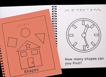 Braille Children's Book Shapes