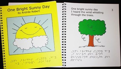 Braille Children's Book One Bright Sunny Day