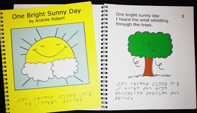 Braille Children's Book One Bright Sunny Day