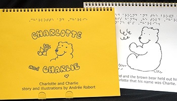 Braille Children's Book Charlotte and Charlie