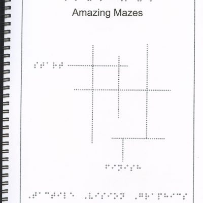 Braille Children's Book Amazing Mazes