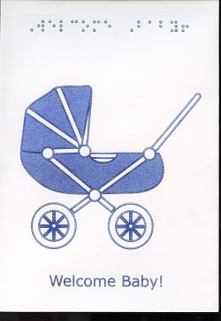 Braille and Tactile Greeting Card Welcome Baby