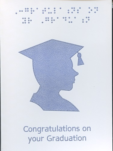 Braille and Tactile Greeting Card Graduation Boy