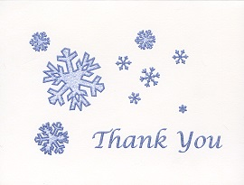 Braille and Tactile Greeting Card Box of Small Blank – Snowflakes