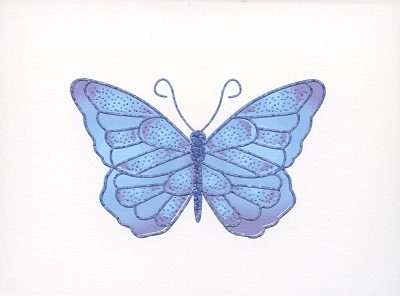 Braille and Tactile Greeting Card Box of Small Blank – Butterfly