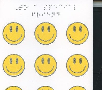 Braille and Tactile Greeting Card To A Special Friend – 8 Smiles and 1 Wink