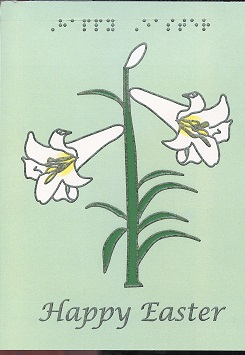 Braille and Tactile Greeting Card Easter Lily