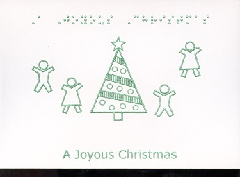 Braille and Tactile Greeting Card A Children'S Joyous Christmas