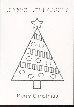 Braille and Tactile Greeting Card Decorated Tree