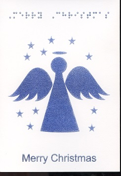 Braille and Tactile Greeting Card Merry Christmas – Angel