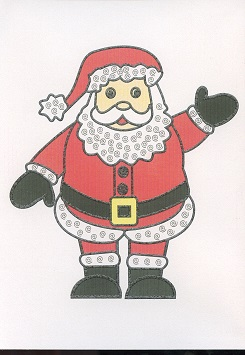 Braille and Tactile Greeting Card Father Christmas