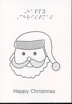 Braille and Tactile Greeting Card Father Christmas – Happy Christmas