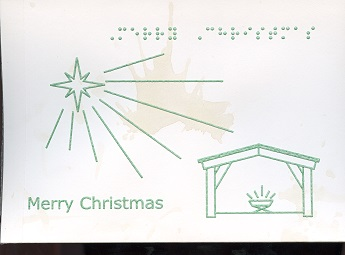 Braille and Tactile Greeting Card Christmas Star