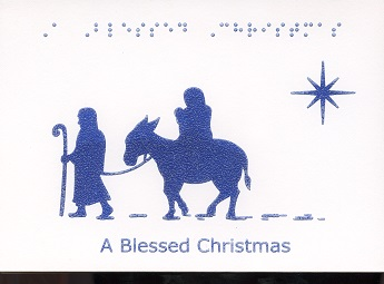 Braille and Tactile Greeting Card A Blessed Christmas – Wise Men and Star
