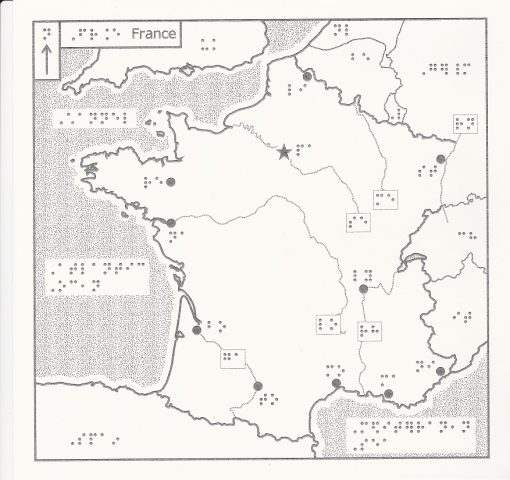 Braille Map of France