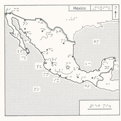 Braille Map of Mexico