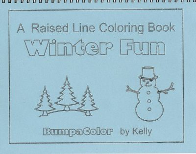 Braille colouring book Winter Fun