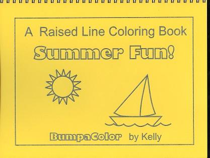 Braille colouring Book Summer Sunshine