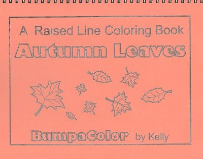 Braille colouring Book Autumn Leaves