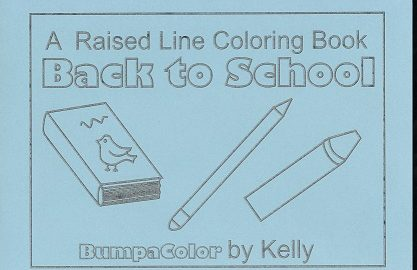 Braille colouring Book School Days