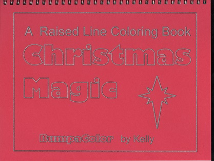 Braille colouring Book Christmas Magic