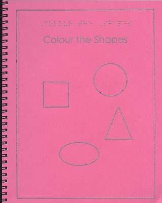 Braille colouring Book Colour the Shapes