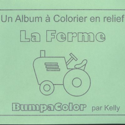 Braille colouring Book La Ferme