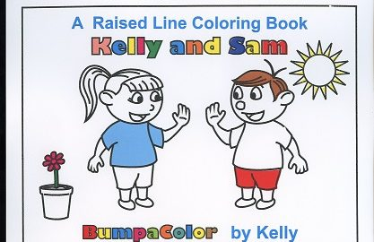 Braille colouring Book Kelly and Sam – A Year With My Best Friend
