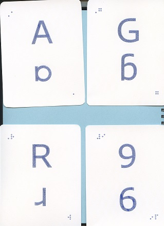 Fun Braille Activities Tactile Letter and Number Flash Cards