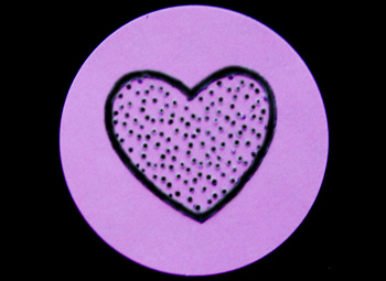 Fun Braille Activities Heart Stickers