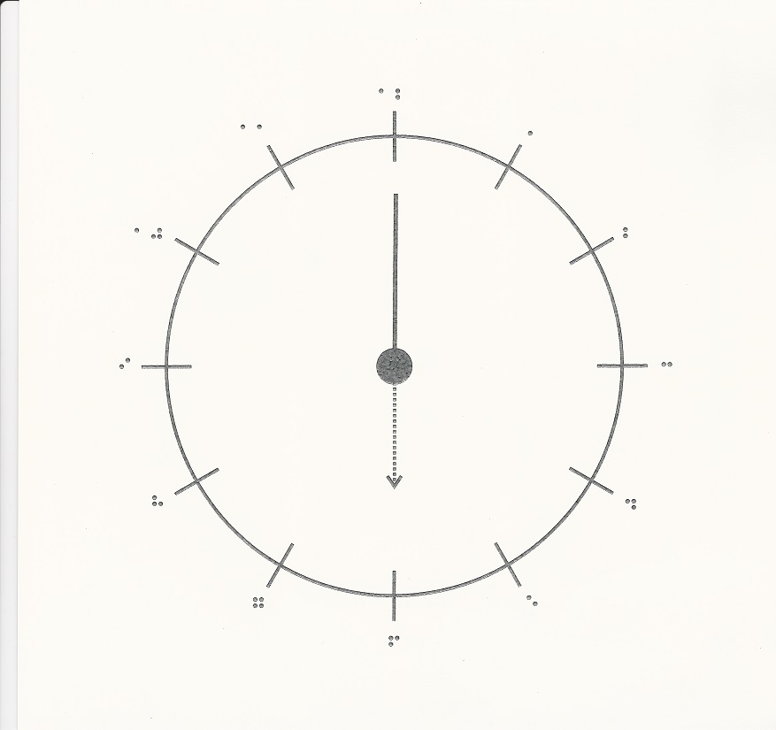 Four Clock Diagrams  U2013 Tactile Vision Graphics