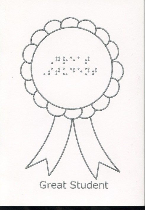 An award with Great Student written on it